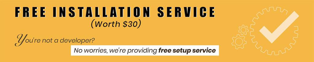 Free installation service