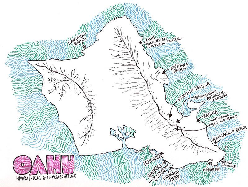 Oahu map sm