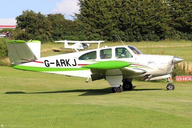 G-ARKJ  -  Beechcraft N35 Bonanza c/n D-6736  -  EGHP 14/8/21