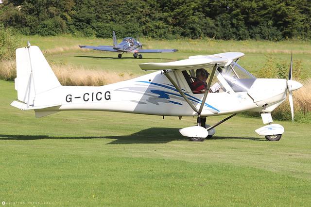 G-CICG  -  Comco Ikarus C42 FB80 Bravo c/n 1304-7259  -  EGHP 14/8/21