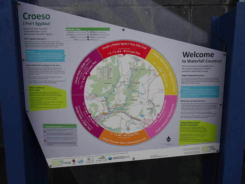 Waterfall Country Walk: Information Board at Pontneddfechan