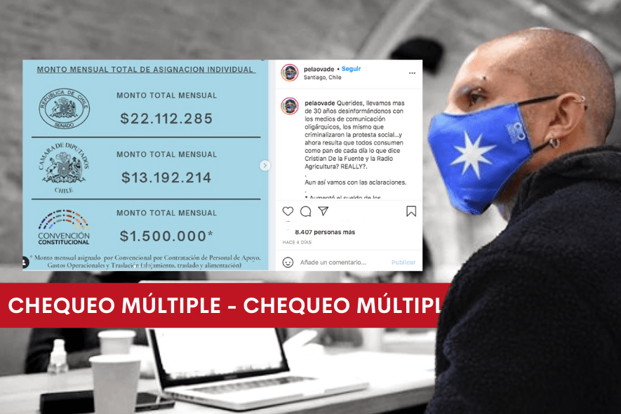 Chequeo múltiple: Publicación de constituyente Rodrigo Rojas sobre monto de las asignaciones parlamentarias en Chile