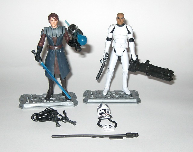 anakin skywalker and clone pilot matchstck from star wars the clone wars shadow of malevolence 2 pack red and white card 2009 hasbro c
