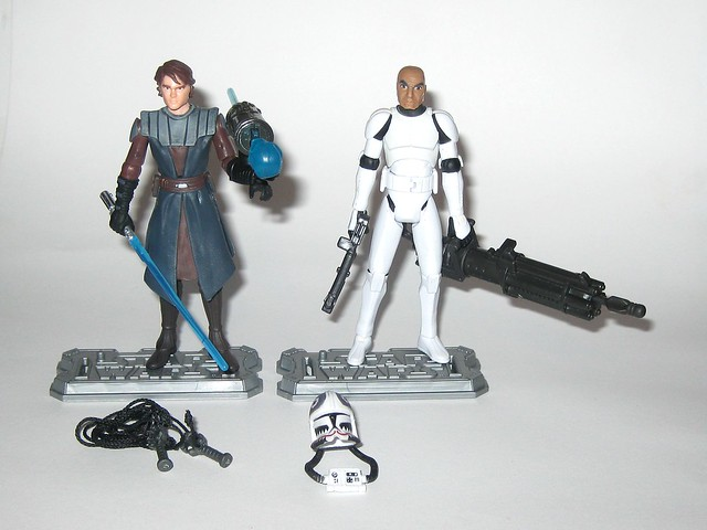 anakin skywalker and clone pilot matchstck from star wars the clone wars shadow of malevolence 2 pack red and white card 2009 hasbro b