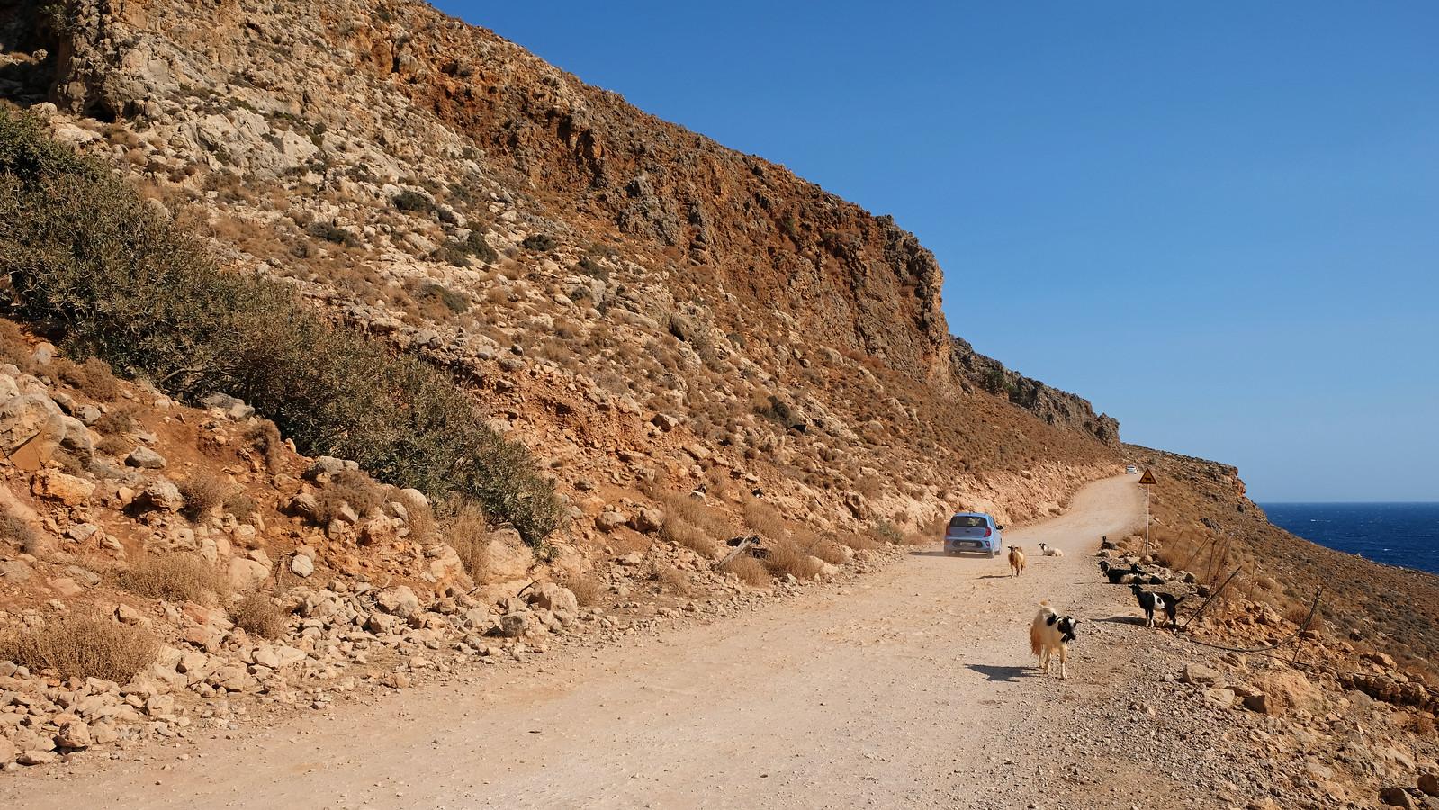 On the way to Balos Beach, Crete, Greece