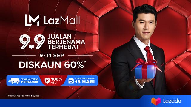 Lazada Umumkan Bintang Hallyu, Hyun Bin Sebagai Duta Jenama Serantau Pertama Lazmall