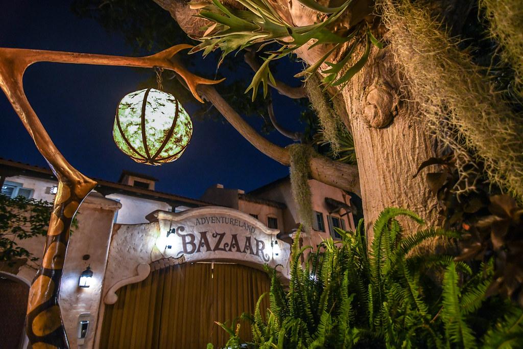 Adventureland Bazaar lamp night DL