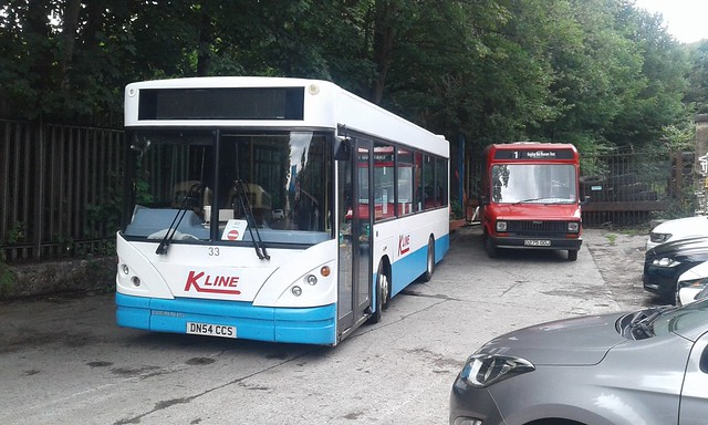 DN54 CCS - K-Line 33 - Dennis (Transbus) Dart, Caetano Nimbus. New 2004 to Castle Coaches, Skipton.