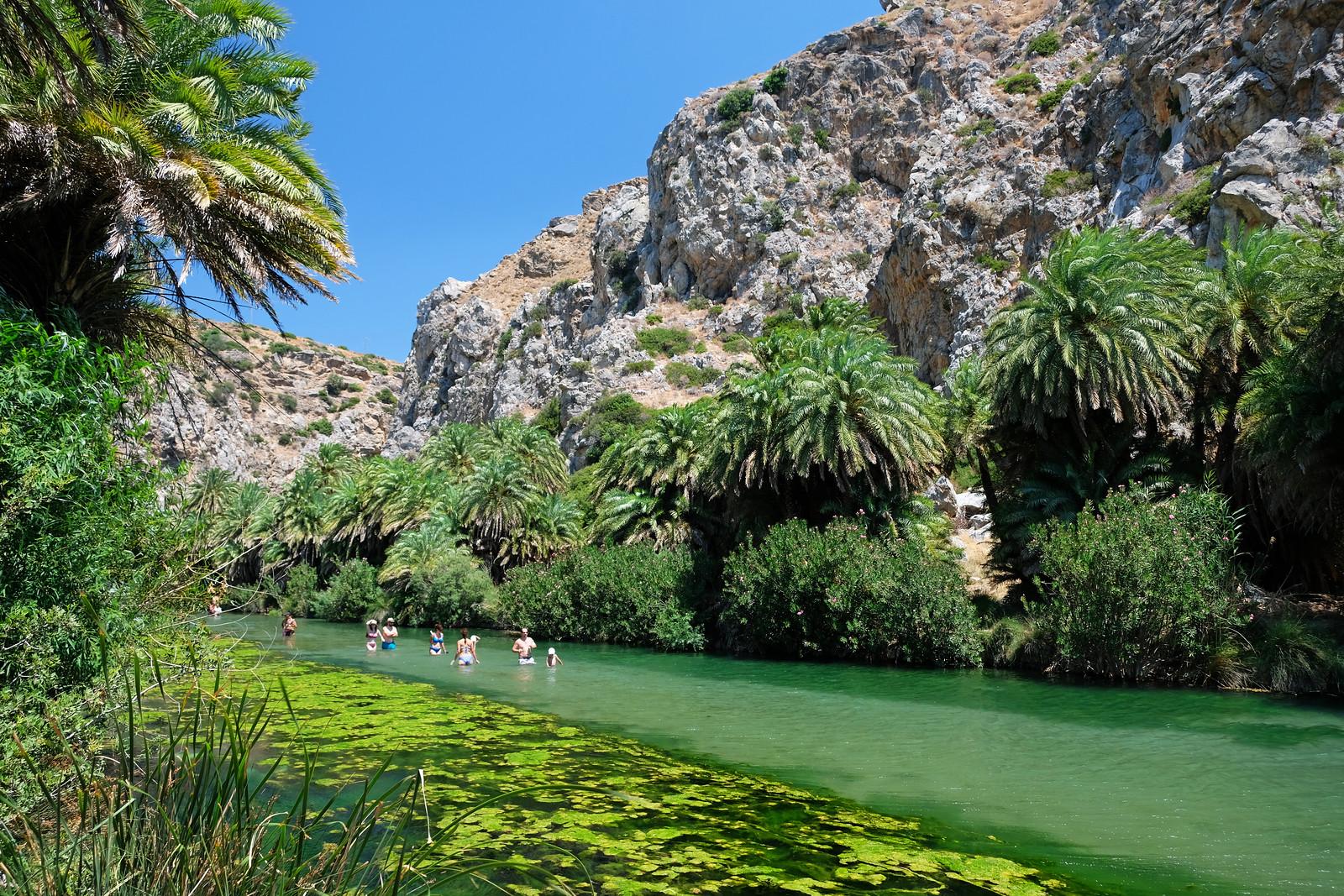 Preveli Palm Canyon, Crete, Greece