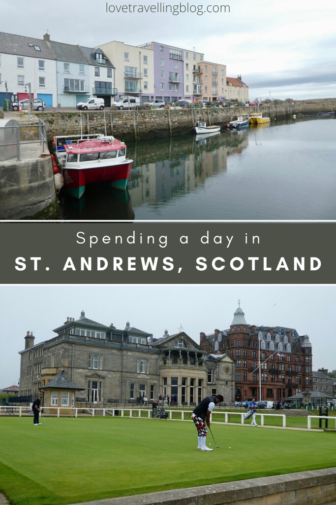 Spending a day in St. Andrews, Scotland