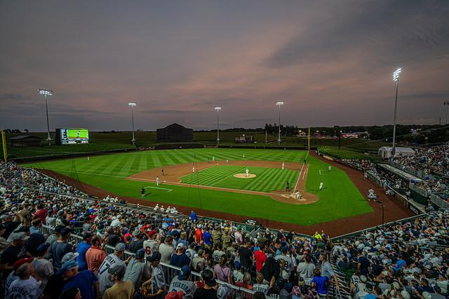 Sunset at MLB Stadium at Field of Dreams