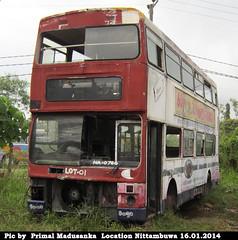 NA-0766 Negombo Depot Leyland MCW A type bus at Nittambuwa in 16.01.2014