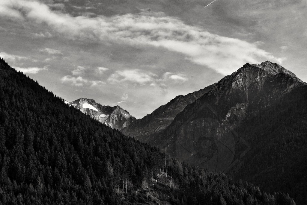 Aviolo peak Baitone hanging glacier