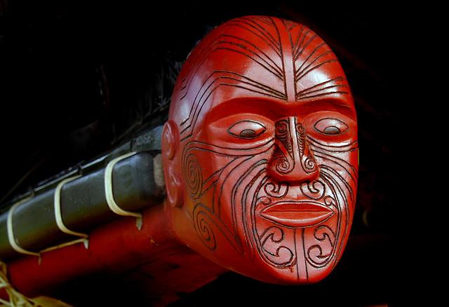 Waka (canoe) figure head.