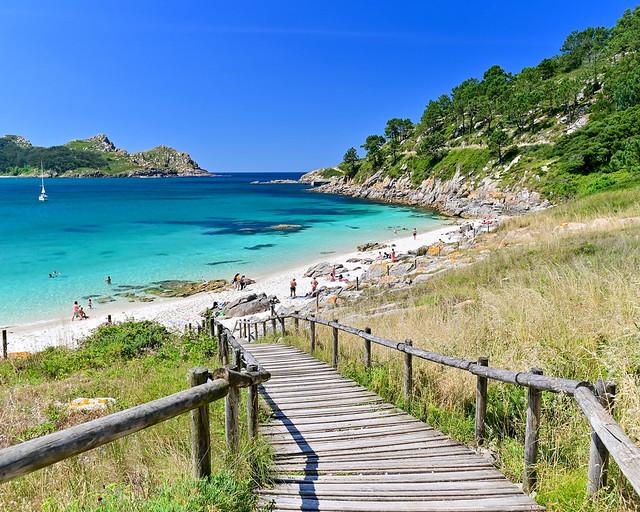 Playa de Nossa Señora en las Islas Cies