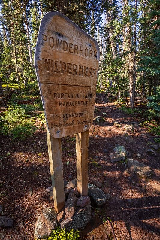 Powderhorn Wilderness Sign
