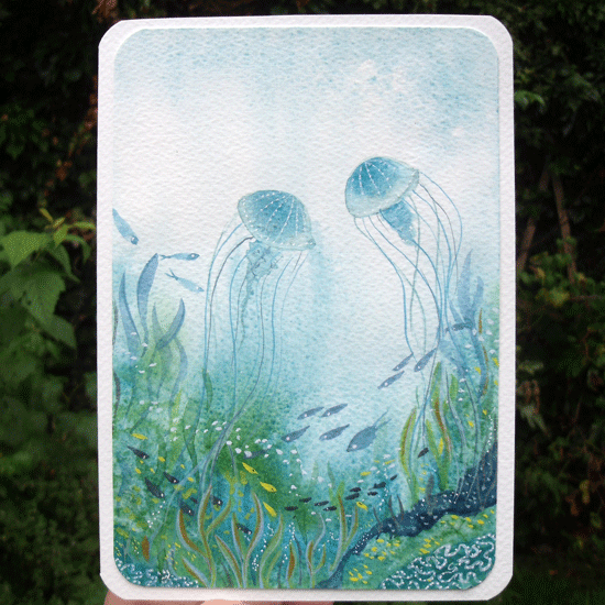 jellyfish birthday card