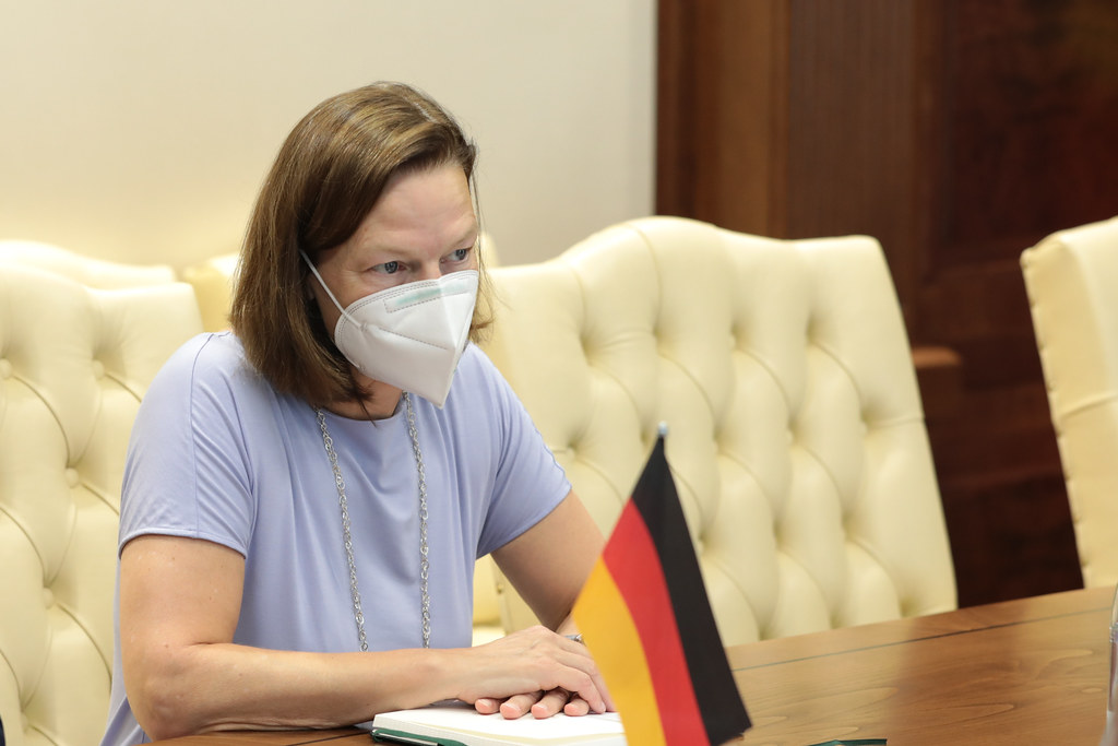 16.08.2021 Întrevederea Președintelui Parlamentului, Igor Grosu, cu Ambasadorul Republicii Federale Germania,  Angela Ganninger
