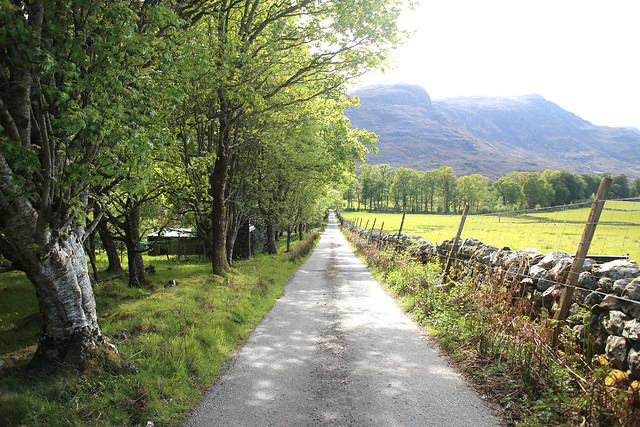 Road near Dundonnell House
