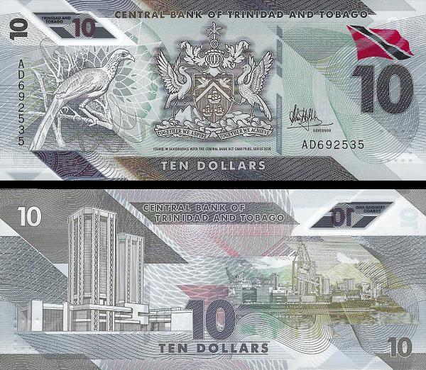 Trinidad and Tobago new 10-dollar note