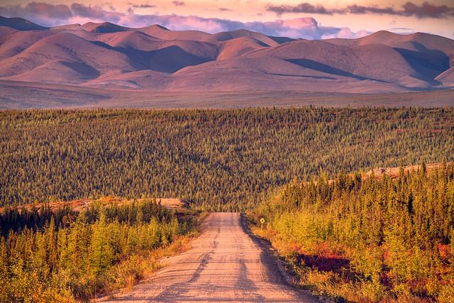 Dempster Highway Richardson Mountains Arctic Circle Yukon