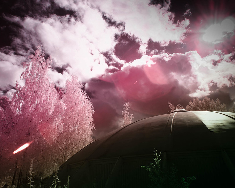 Infrared of the day 78 - An UFO has landed