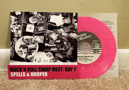 "Spells / Hooper - Rock N Roll Swap Meet: Day 1 Spilt 7"" - Pink Vinyl (/220)"