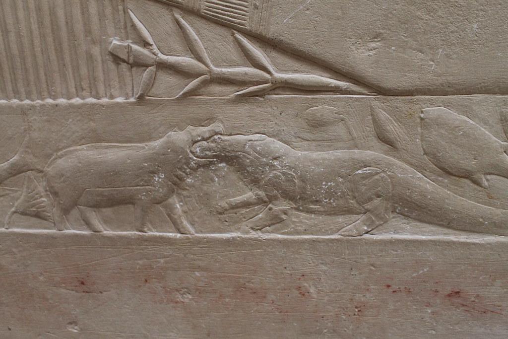 Detail of Hippotamus vs. Crocodile