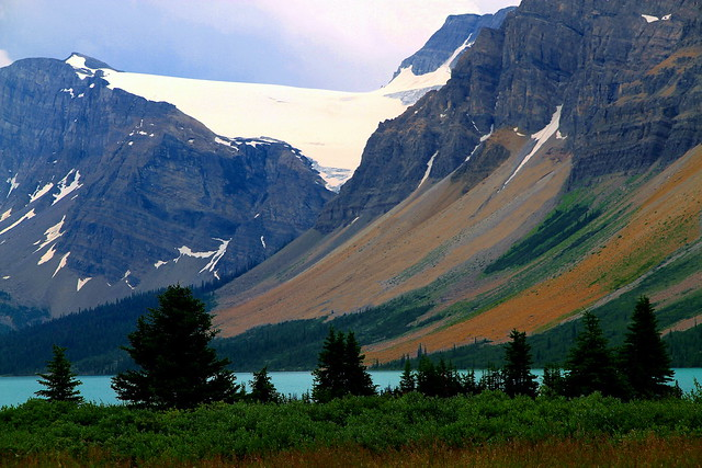 Colors of the Canadian Rockies by a glacial lake