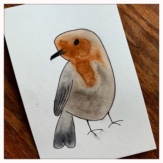 Watercolor Finch