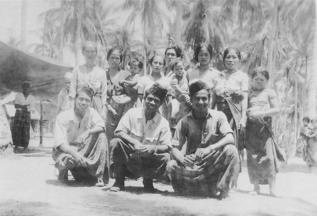 Indonesian group photo, unknown island, ca. 1944