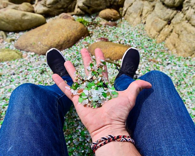 Playa de los Cristales de Galicia