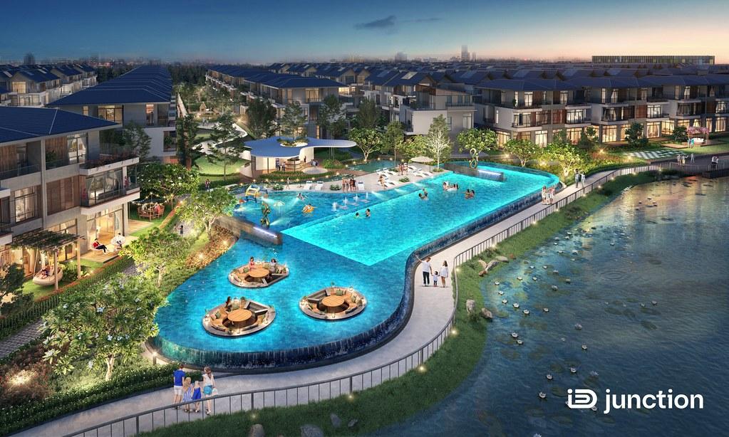 Khu hồ bơi xanh mát iD Junction