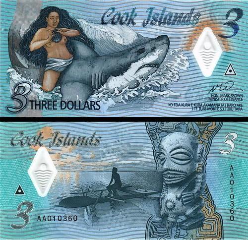 3 Doláre Cookove ostrovy 2021 P11 UNC polymer