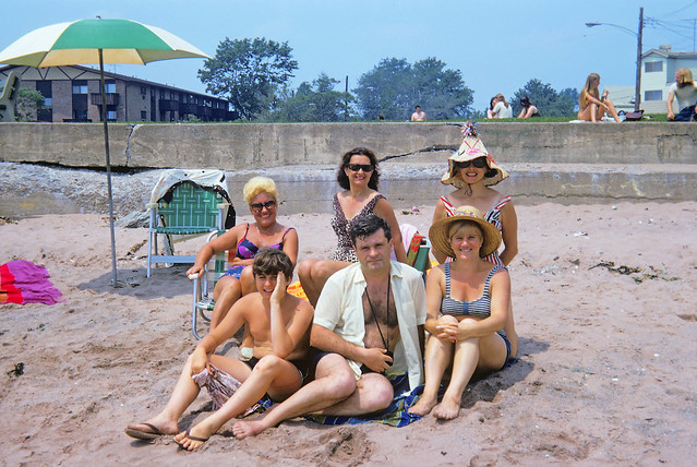 As long as we're on the subject of the Anchor Beach in the previous image, it was SO embarrassing to be to be seen in the same photo as my parents and their friends. At age 13, that's the LAST thing you wanted! Milford CT. July 1972.