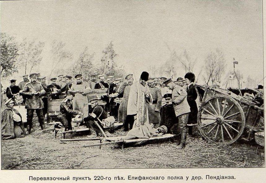 Перевязочный пункт 220-го пех. Епифанского полка у дер. Пендианза