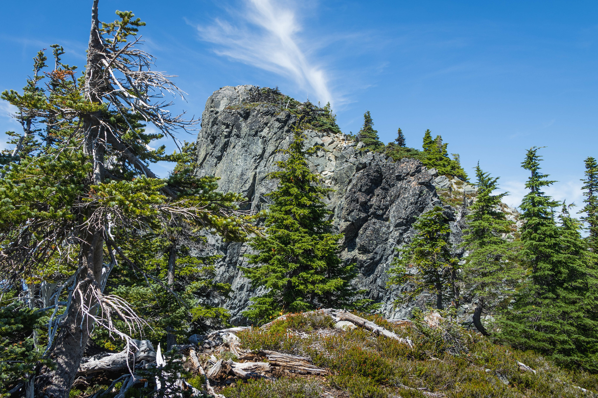 The final stretch on Silver Eagle Peak