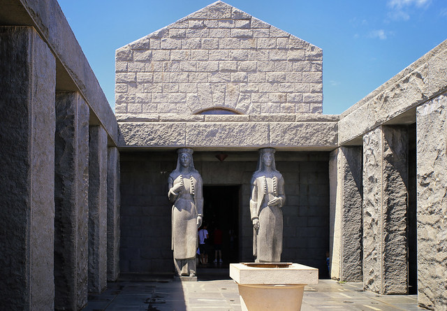 Entering Njegos Mausoleum in Montenegro