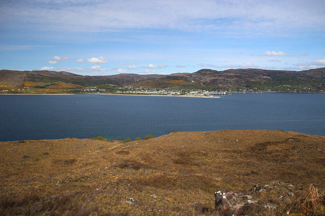 View to Ullapool from Altnaharrie