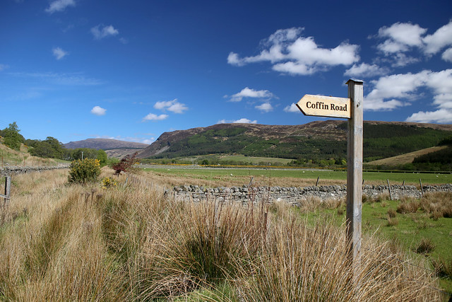 The old Coffin Road to Inverbroom bridge
