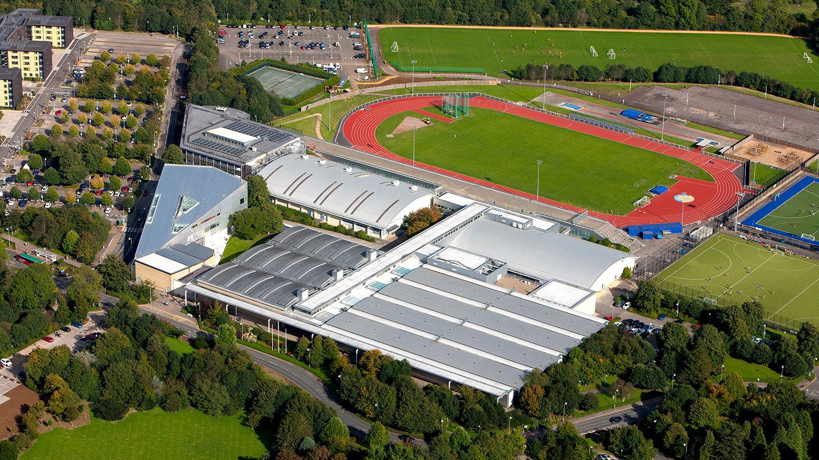 An aerial view of the Team Bath Sports Training Village
