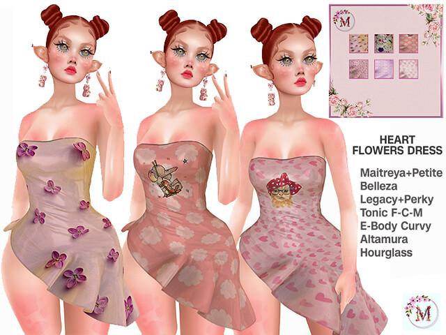 Melis-Heart Flowers Dress PACK