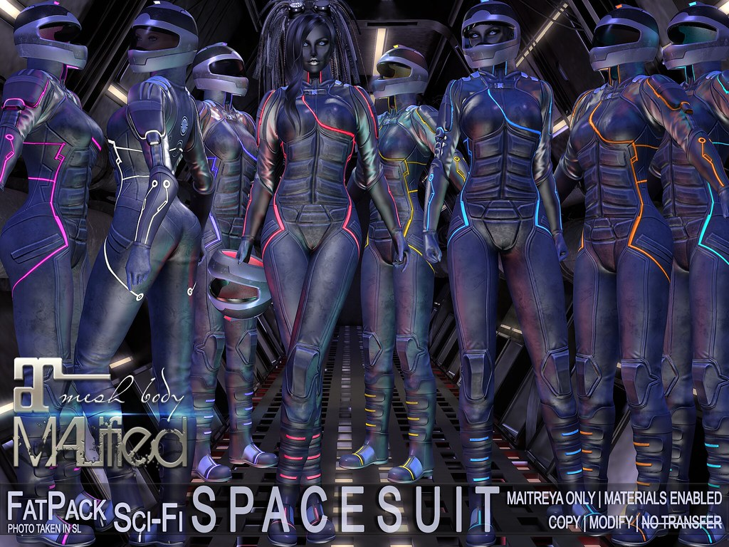 MALified – Sci-Fi SpaceSuit Outfits – FatPack