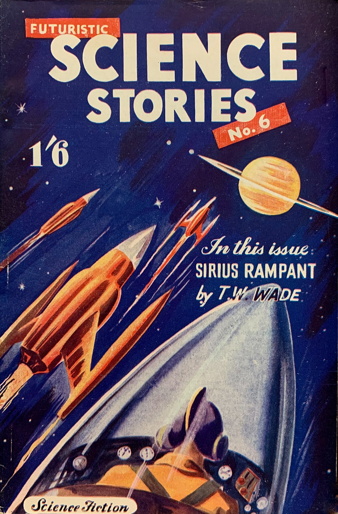 Futuristic Science Stories No. 6. London:  John Spencer & Co., (1952).  Cover Art by Ronald Turner (or possibly Gerald Facey).