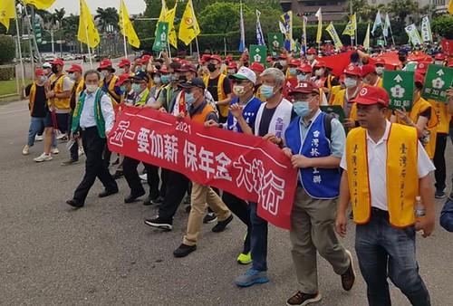 圖05. 各工會領導幹部於凱道前遊行