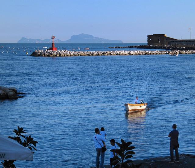 Naples  -  Last sunray on Santa Lucia and Capri