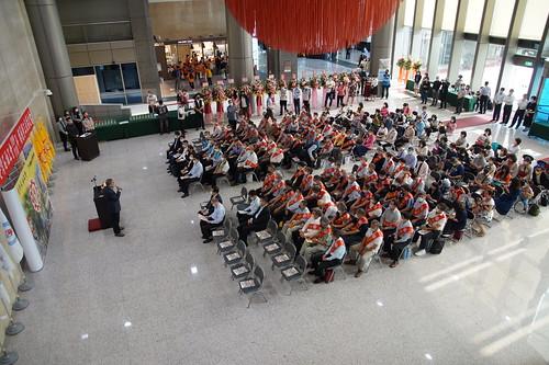圖4.109年度與110年度模範勞工表揚大會現場嘉賓雲集