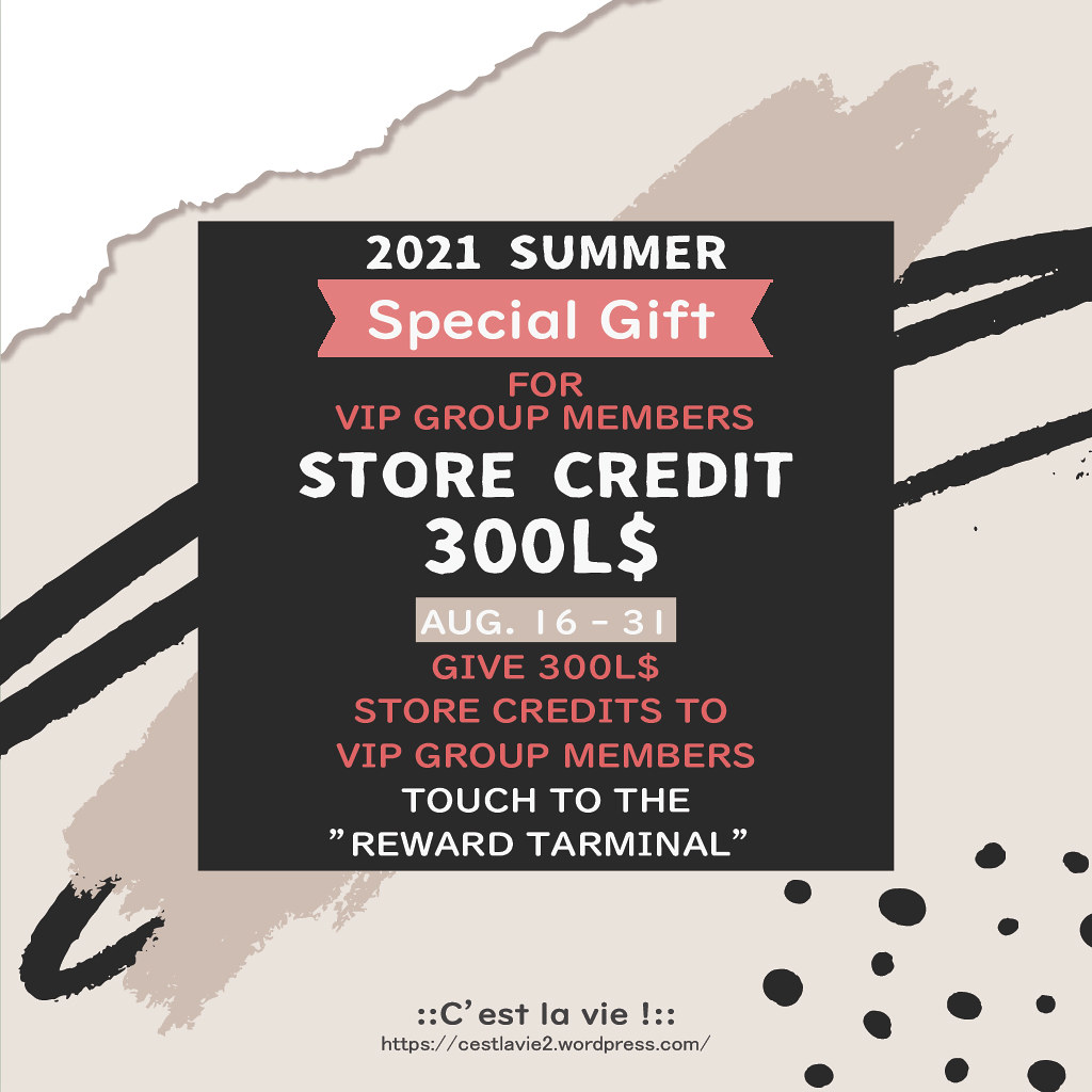 ::C'est la vie !:: Special GIFT 2021 Summer for VIP Group Members