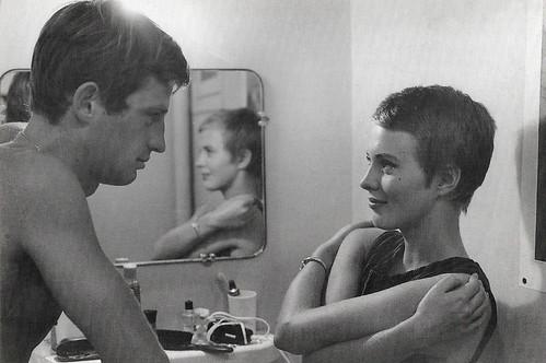 Jean-Paul Belmondo and Jean Seberg in A bout de souffle (1960)