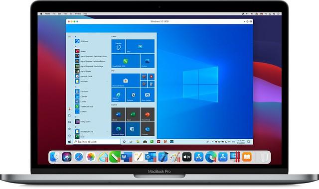 1_Windows on Macbook Pro_Parallels Desktop 17 for Mac